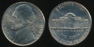 United States, 1998-P 5 Cents, Jefferson Nickel - Uncirculated