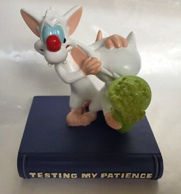 "Warner Brothers **PINKY & THE BRAIN** Figurine ""Testing My Patience"" RARE PIECE!"