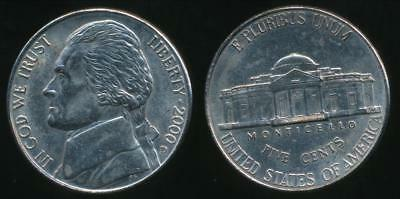 United States, 2000-D 5 Cents, Jefferson Nickel - Uncirculated