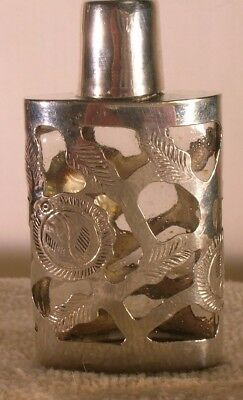ANTIQUE STERLING SILVER PERFUME BOTTLE approx.1 oz  by Jose Marmolejos Mexico