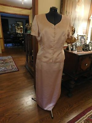 Beautiful Pink Mother Of The Bride Or Groom Or Special Occasion Formal Suit S 16