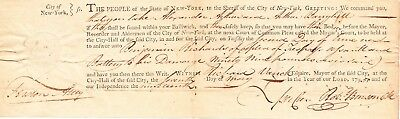 MARINUS WILLETT DS. Sons of Liberty, Fort Schuyler, Mohawk Valley, NYC Mayor