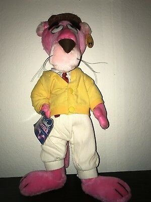"""Vintage Pink Panther Plush Touch Of Velvet 16"""" Poseable Toy"""