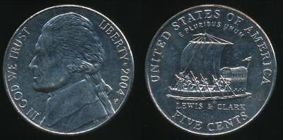 United States, 2004-P 5 Cents, Jefferson Nickel (Keelboat) - Uncirculated