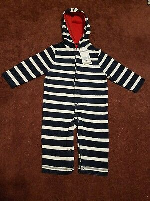 Jo Jo Maman Bebe Boys Hooded Baby Towling Snuggler 6-12 Months - Brand New