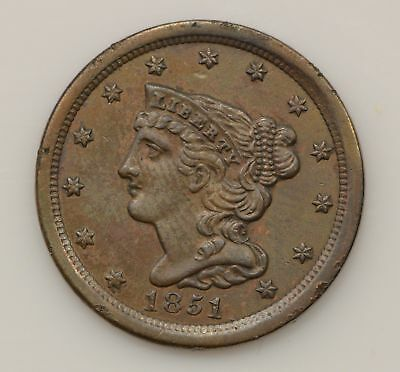 1851 Braided Hair Liberty Head Half Cent *G19