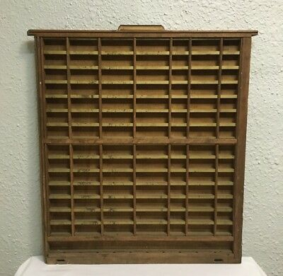 Vintage Antique Print Tray Drawer Wood Brass Display Case Shadow Box Miniatures
