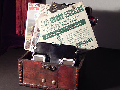 View-Master Model C Viewer & Reels-The Great Smokies,Indiana,White House