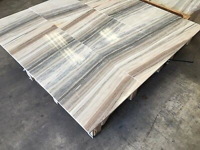 Palissandro Blue Marble Tiles, Polished Luxury Marble Tile Floor/Wall, 457x457mm