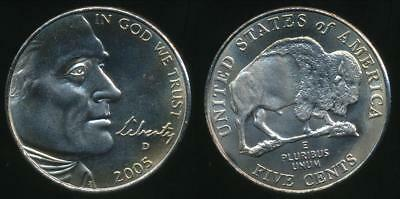 United States, 2005-D 5 Cents, Jefferson Nickel (American Bison) - Uncirculated