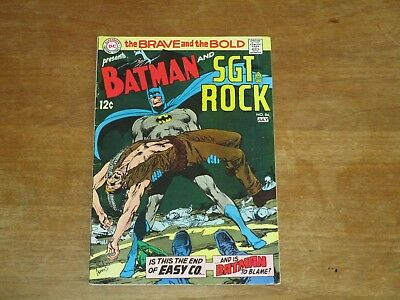 Brave And The Bold #84 Silver Age Batman Sgt Rock Neal Adams Last 12 Cent Issue