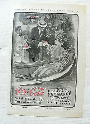 """1906 (Jul) Good Housekeeping Magazine """"coca-Cola Is A Delicious Beverage"""" Ad"""