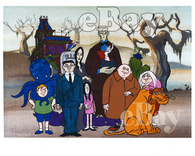 Rare! ADDAMS FAMILY Cartoon Color TV Photo HANNA BARBERA Studios