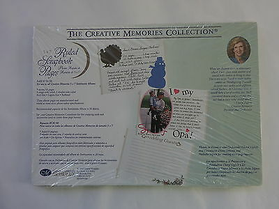 Creative Memories 5 x 7 Ruled White Scrapbook Pages RCM-5R  10 Sheets  NIP