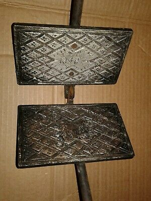 Antique WWII World War Two 1945 Pizzelle Cast Iron Cookie Galette Press Wafer