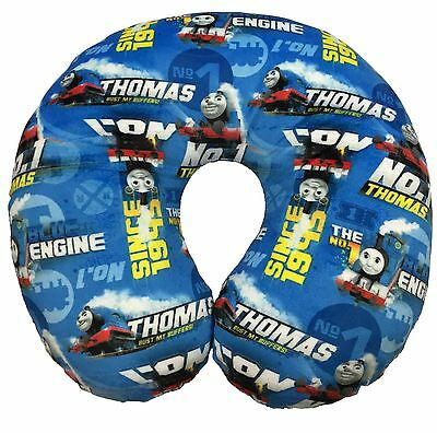 Childrens Thomas the Tank Engine Patterned Travel Pillow Cushion Blue