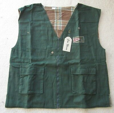 Fishing Vest - 4 Pockets -Tradies - New- Size M -Super Durable -Joe Wear Brand