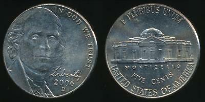 United States, 2006-D 5 Cents, Jefferson Nickel - Uncirculated