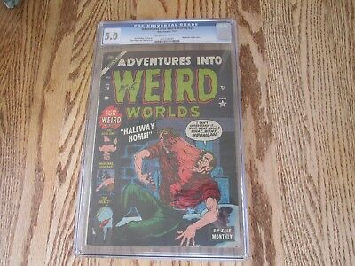 Adventures Into Weird Worlds # 24 CGC 5.0 OW/W Hypodermic Needle Cover Awesome