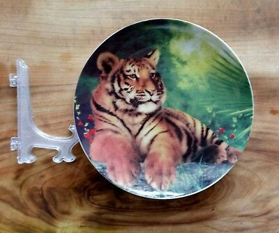 Collectable Tiger ceramic plate with stand
