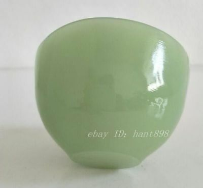 Chinese Handmade Natural jade Carved Pure Small Exquisite Bowl Cup