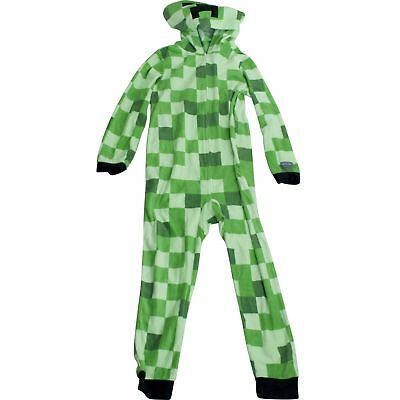 Minecraft Hooded Sleeper Pajamas Union Suit Boys Sz M L XL