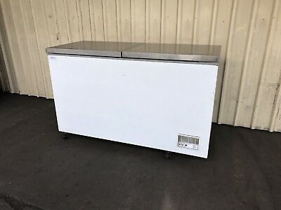 Commercial Chest Freezer Chiller Fridge 1.6M Wide Stainless Steel Lid
