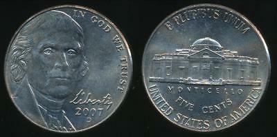 United States, 2007-D 5 Cents, Jefferson Nickel - Uncirculated