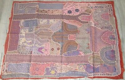 Very Pretty Multi Color Patchwork Wall Hanging Ethnic Home Decor Indian Tapestry