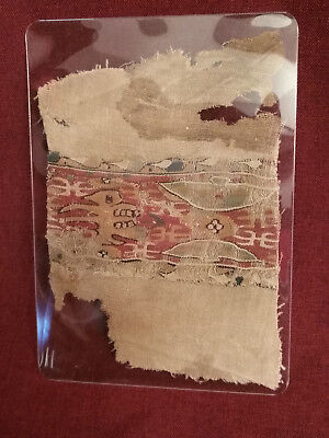 Egyptian Coptic Textile Late Roman to Early Byzantine Period circa 400-600 CE