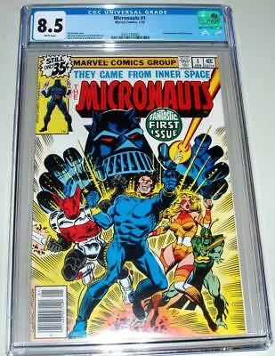 Micronauts #1 -Cgc 8.5- White Pages- 1St App. Baron Karza-New Arrival- Gem Case!