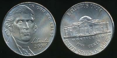 United States, 2008-P 5 Cents, Jefferson Nickel (Satin Finish) - Uncirculated