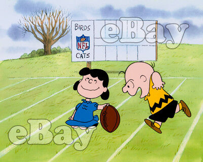 Rare! YOU'RE IN THE SUPER BOWL CHARLIE BROWN Cartoon Color Photo CHARLES SCHULZ