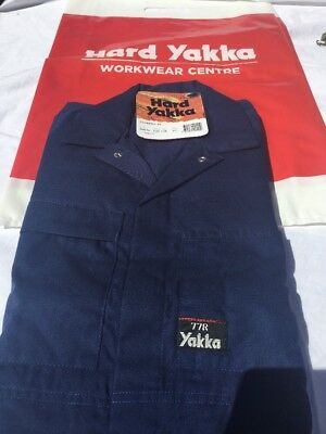 Hard Yakka WORK OVERALLS 77R POLYCOTTON Free Post For 🎄