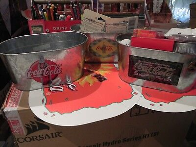 Coca Cola Storage Tins x 3 ( Items Inside Not Included )