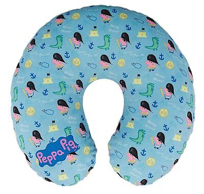 Childrens Comfortable George Pig Patterned Travel Pillow Cushion Blue