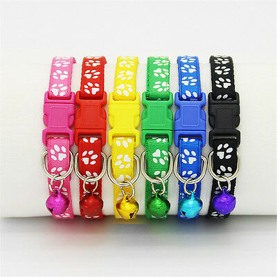 Nylon Cat Collar Adjustable Cats Collars with Bell and Bling