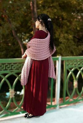 Gorgeous Uzbek Handmade & Homemade Natural Woolen Shawl Long Scarf M286