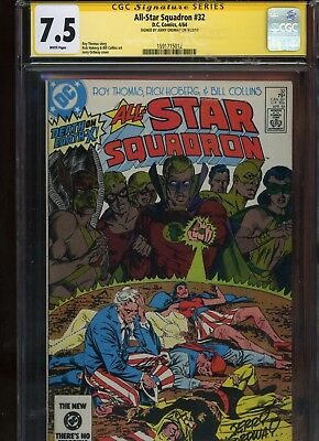 All-Star Squadron #32 CGC 7.5 SS Jerry Ordway 1984 Hawkman
