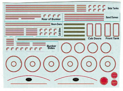 On30 NA Class Locomotive of the VR - DECAL SET With Builders Plates and Lining