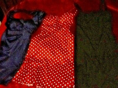 3- LOT VINTAGE Style PINUP-ROCKABILLY-MOD-RETRO Dresses LOT of 3