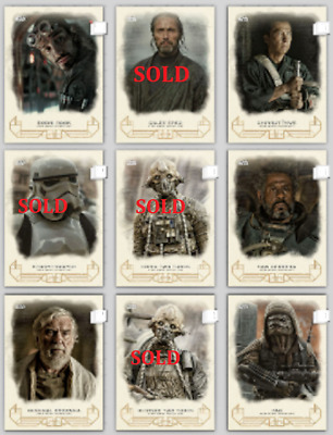 """Topps Star Wars Card Trader GALACTIC HERITAGE ROGUE ONE PICK UR CHOICE """"2"""" CARDS"""