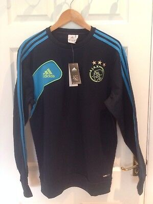 Ajax Amsterdam Sweat Top Size 44/46 NEW With Tags