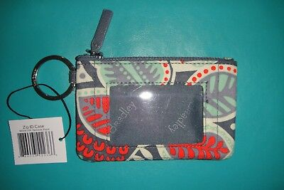 """Vera Bradley  Zip Id Case """"nomadic Floral"""" Retired Pattern!  New With Tags!"""