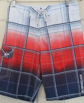 As New Boys QUIKSILVER multi-coloured  BOARDSHORTS size 14