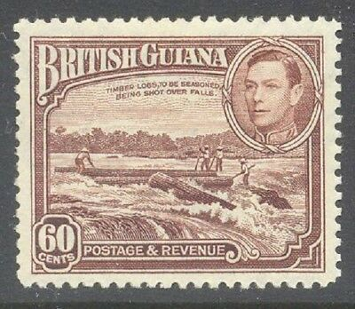 BRITISH GUIANA 1938 KG6 60c Red-Brown MLH