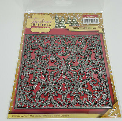 "Traditional Christmas Yvonne Creations Stanzschablone""Snowflake Frame""  YCD10059"