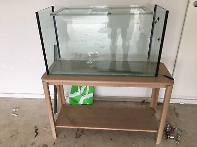 Glass Aquarium Fish Tank With Wooden Stand