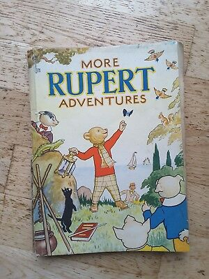 """More Rupert Adventures"" 1943 Original annual unclipped War Economy Standard"