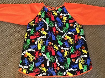 Basketball Art Smock Handmade & Gorgeous AGE 4-7 Perfect For School Or Home